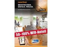 50-100% WIR ANTEIL, LASERLINER Katalog mit Preisliste